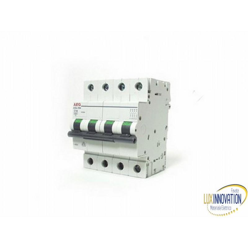 Interruttore magnetotermico 50A 4 poli AEG 6 KA