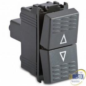 Pulsante doppio 1P/NA+1P/NA -16A 250V grigio