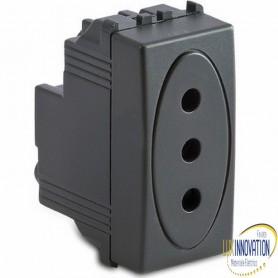 Presa Master P11 2P+T 10A grigio