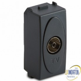 Presa Master TV 9.5mm pass./finale, grigio