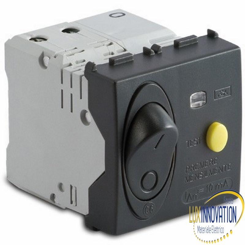 Interrutore automatico Master Modo 31530.10 magnetoterminco differenziale , grigio 1P+NC10A pi300A
