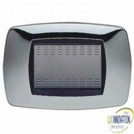 Placca Master 39TC223 Modo in tecnopolimero Argento cromato 3 posti