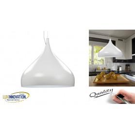 Lampada sospensione cucina circolare moderno lampadario per cucina bianco led 30