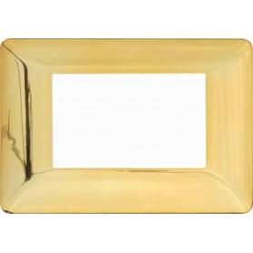 Placca Oro lucido Compatibile con Bticino matix