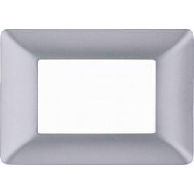 Placca Silver grigio satinato Compatibile con Bticino matix