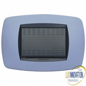Placca Master Modo in tecnopolimero blu soft 3 posti.