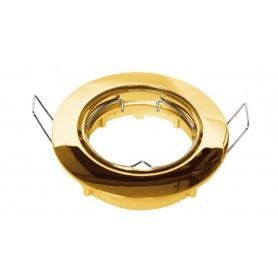 Faretto rotondo da incasso cartongesso Oro Lucido