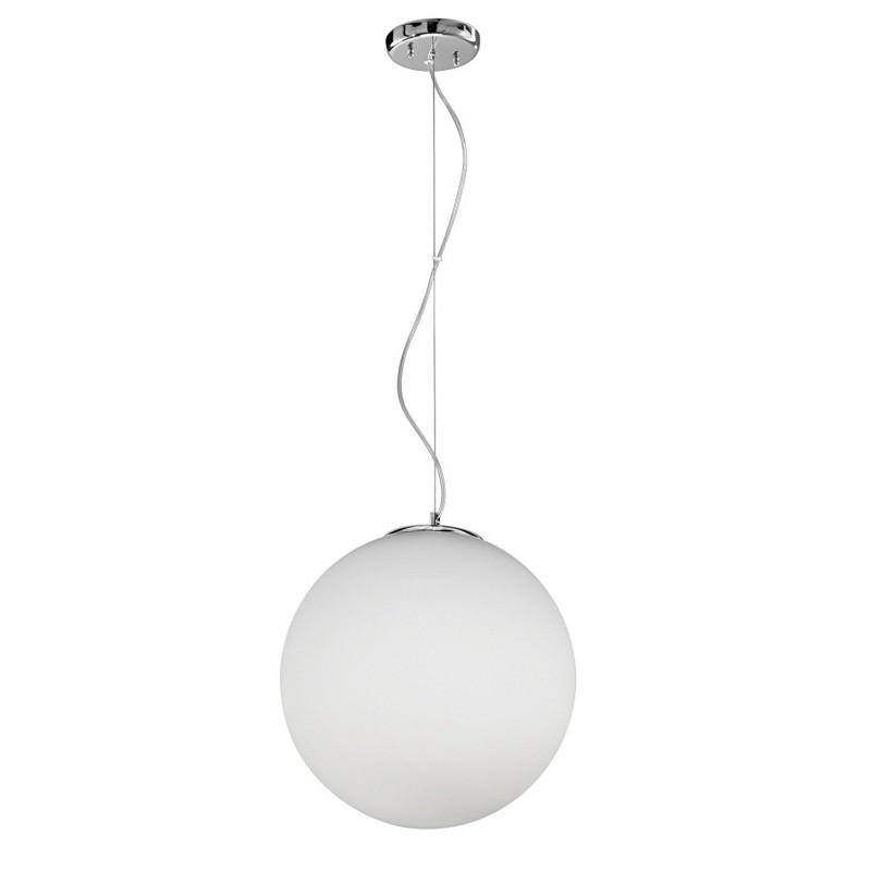 Lampadario con lampada a sospensione in vetro bianco D.40cm art.6346 Illuminazione moderna