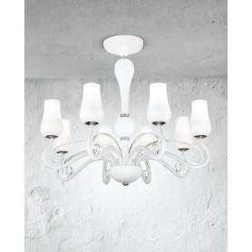 Lampadario in vetro diametro 74 art.5784 illuminazione moderna e ...