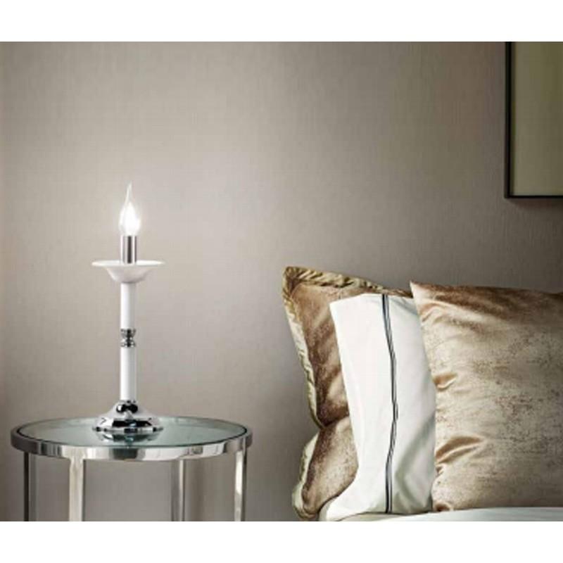 Lumetto abat-jour candela vetro bianco D12cm 6495B illuminazione ...