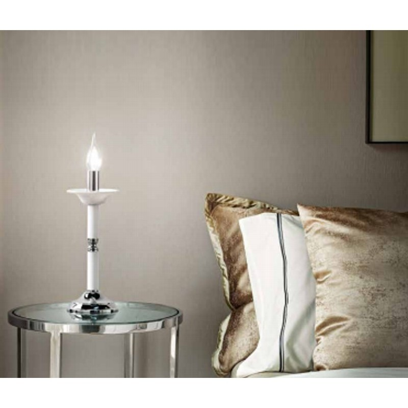 Lumetto abat jour candela vetro bianco d12cm 6495b for Abat jour moderne camera da letto