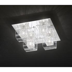 Applique vetro 40cm art.5932 illuminazione moderna contemporanea ideale per salone scala bagno