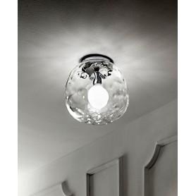 lampada da soffitto vetro trasparente art.6467TR Illuminazione moderna ideale per salone e cucina