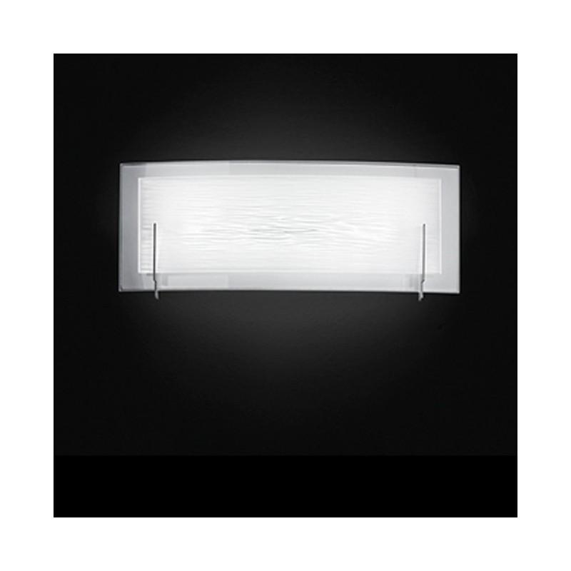 Applique in vetro bianco satinato 46cm 6486BLN illuminazione moderna ...