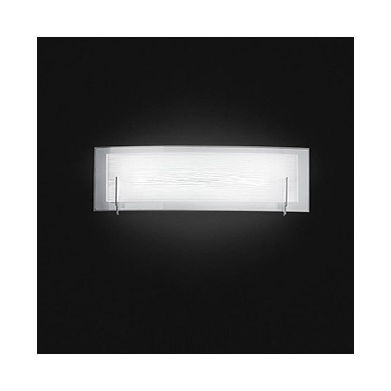 Applique in vetro bianco satinato 60cm 6488BLN illuminazione moderna ...