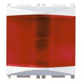 Spia prismatica vimar 14387.R plana rosso bianco