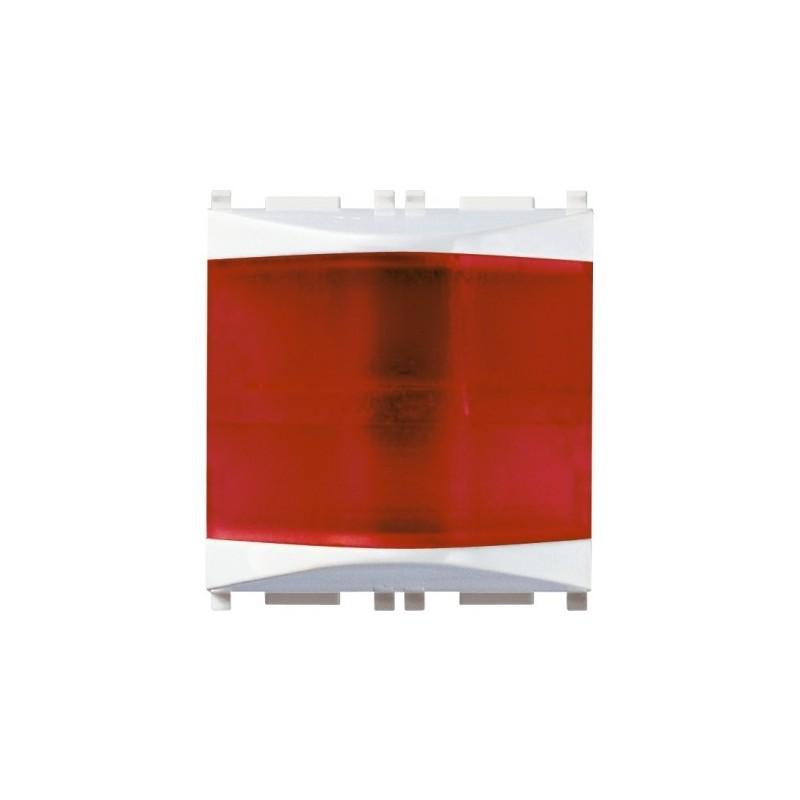 Spia prismatica Vimar Plana rosso bianco