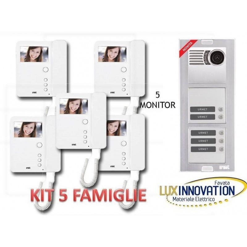 Kit Videocitofono 4 famiglie Urmet quadrifamiliare
