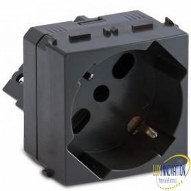 Presa Master P17/P30 universale 2P+T 10/16A 250V orizzontale