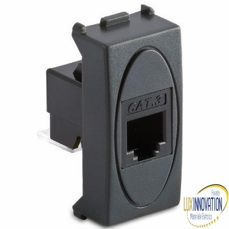 Presa Master RJ11 plug 6/4 contatti grigio