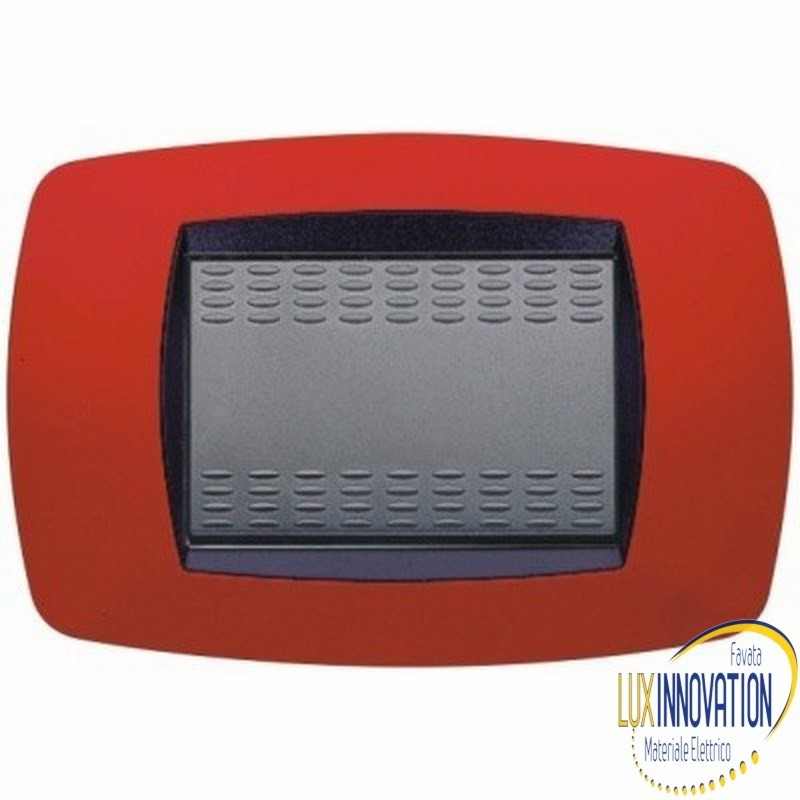 Placca Master Modo 39TC153 in tecnopolimero Rosso 3 posti