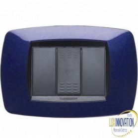 Placca Master Modo in tecnopolimero Blu vio 3 posti