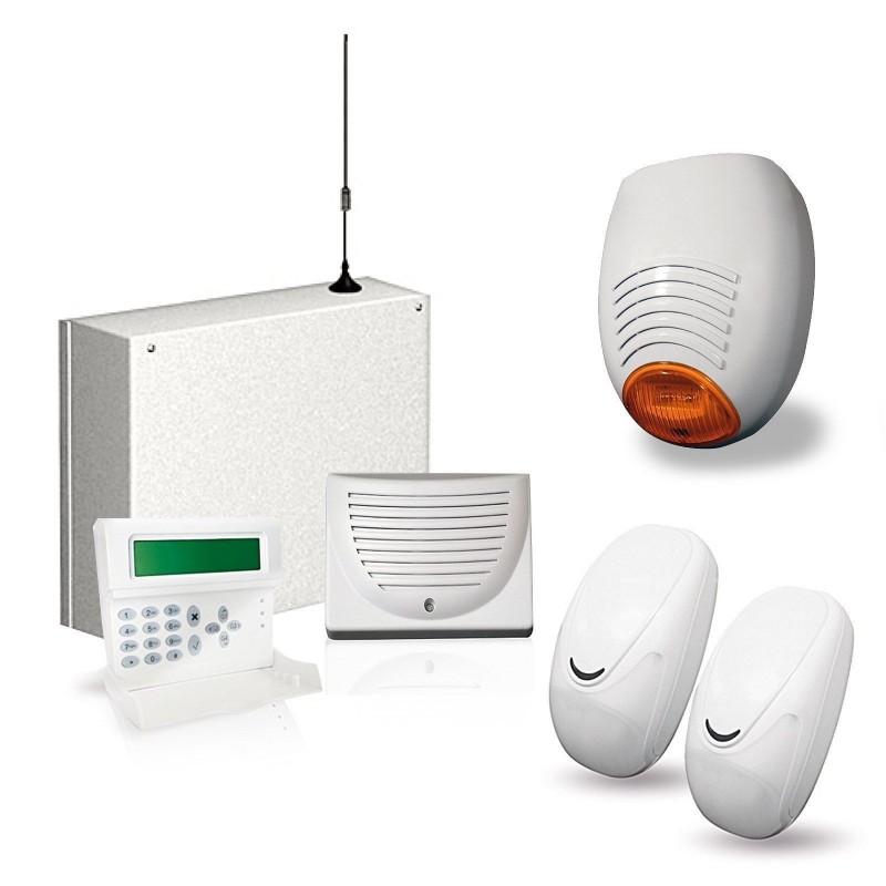 KIT ANTIFURTO ALLARME CASA COMBINATORE GSM CABLATO FILARE CELLULARE AMC C24GSM+