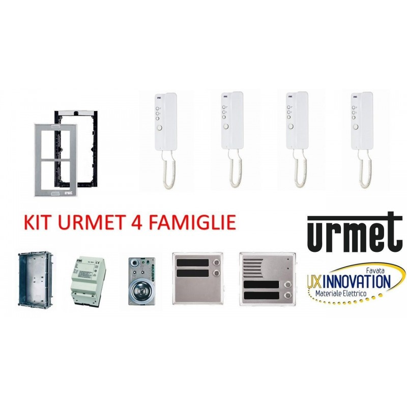 Kit Citofonico Quadrifamiliare Urmet 4 Famiglie Luxinnovation