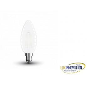 Lampada a led 4W smerigliata E14