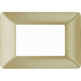 Placca Oro satinato Compatibile con Bticino matix