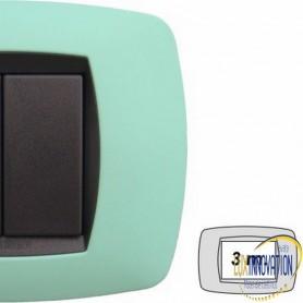 Placca Master Modo in tecnopolimero Verde soft 3 posti