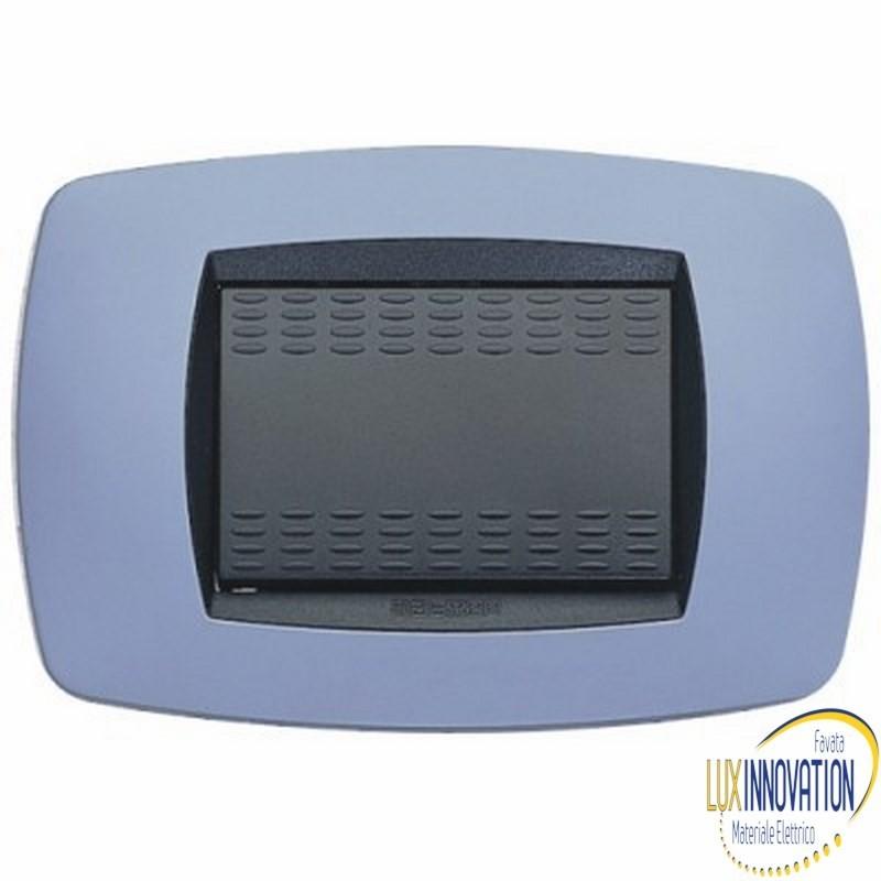 Placca Master Modo in tecnopolimero Azzurro soft 3 posti