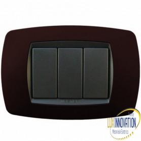 Placca Master Modo in tecnopolimero Vinaccia soft 3 posti