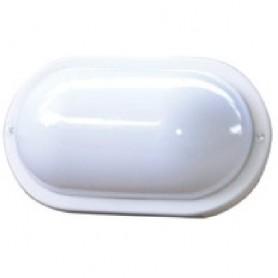 Plafoniera ovale da muro Bianca