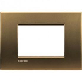 Placca Placchetta Living International 2 moduli Chrome L4802CT