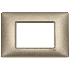 Placca 3M bronzo metallizzato Vimar Plana 14653.70