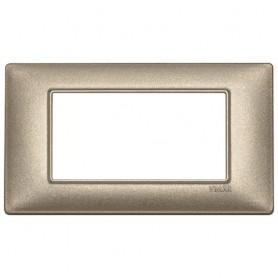 Placca 4M bronzo metallizzato Vimar Plana 14654.70