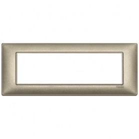 Placca 7M bronzo metallizzato Vimar Plana 14657.70