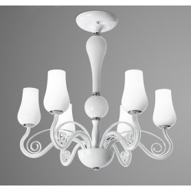 Lampadario in vetro struttura in metallo D.66 art.5785 illuminazione moderna e contemporanea