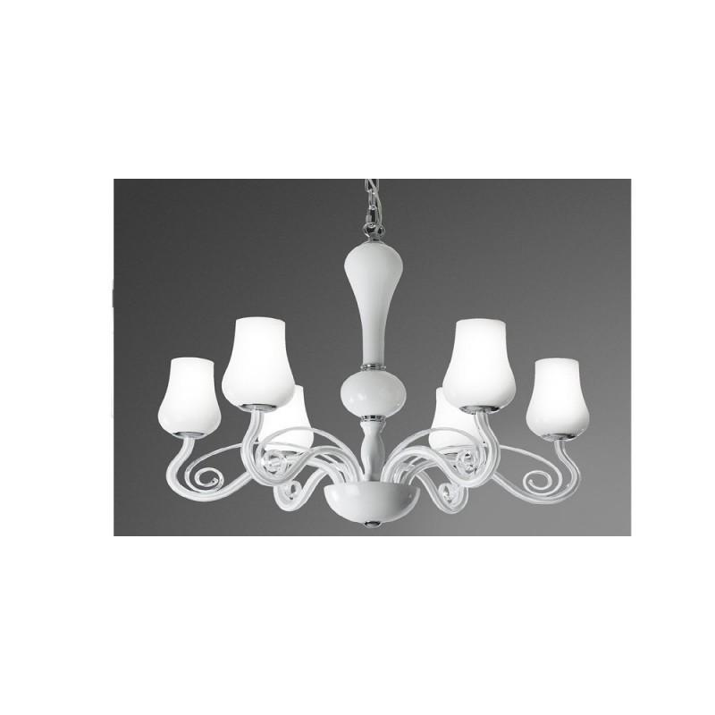 Lampadario sospensione in vetro illuminazione moderna e contemporanea per salone - Lampadari per camera da letto contemporanea ...