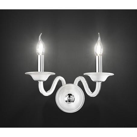 Applique Design Camera Da Letto.Applique Candele Vetro Bianco 30cm Art 6494b Illuminazione Moderna