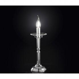 lumetto abat-jour candele vetro trasparente d12cm art.6495TR illuminazione moderna contemporanea ideale per salone camera da let