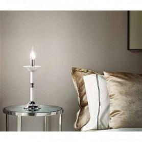 lumetto abat-jour candele vetro bianco d12cm art.6495B illuminazione moderna contemporanea ideale per salone camera da let