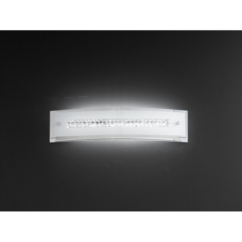 Applique in vetro con cristalli 47cm 6080 illuminazione moderna ...