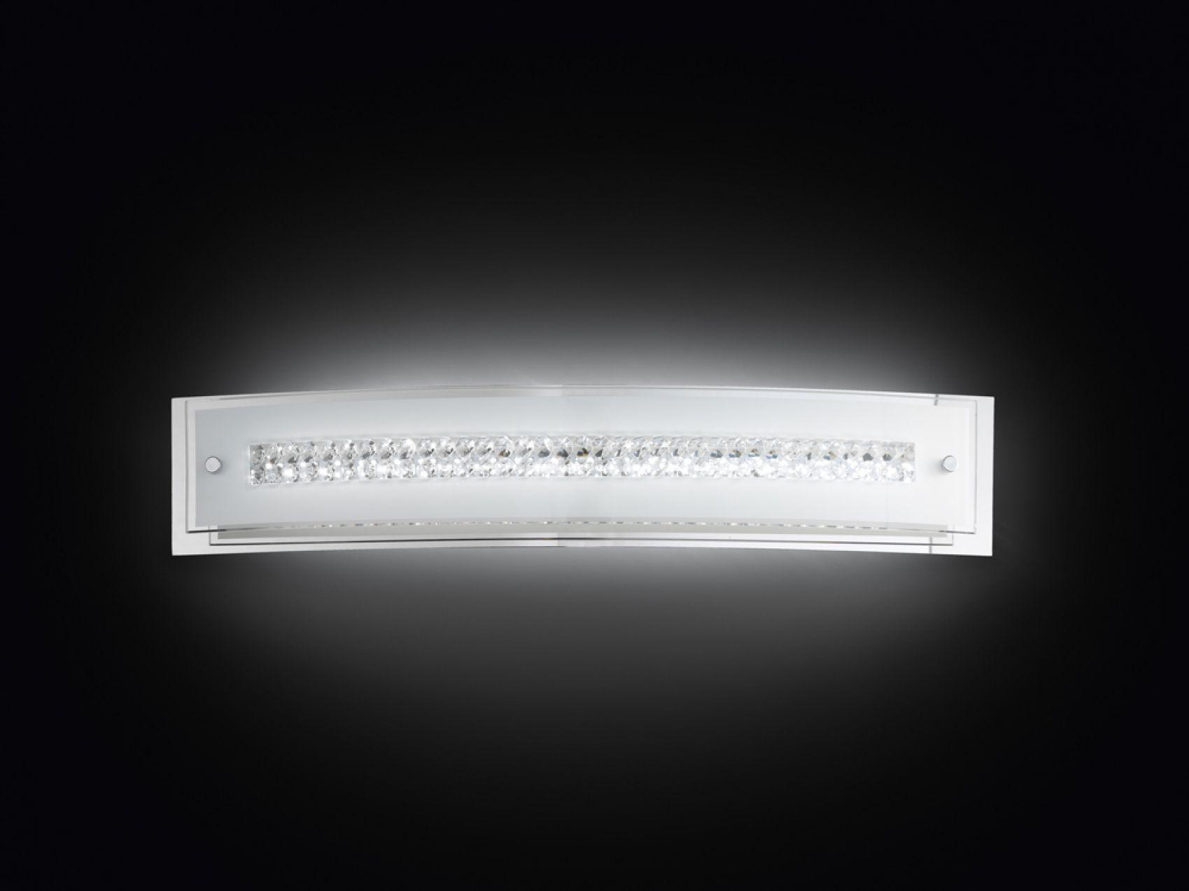 Applique in vetro con cristalli 58cm 6082 illuminazione moderna