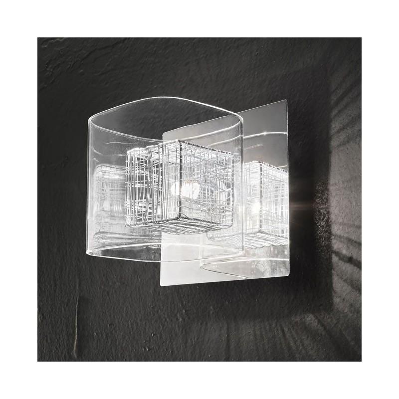 Applique vetro trasparente 16cm 5926 illuminazione moderna contemporanea  ideale per salone camera da letto scala bagno - Luxinnovation - Vendita ...