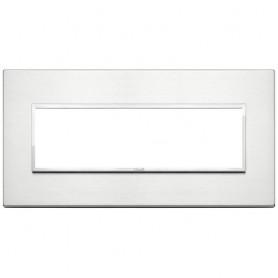 Placca 7M alluminio brillante Vimar Eikon Evo 21657.01