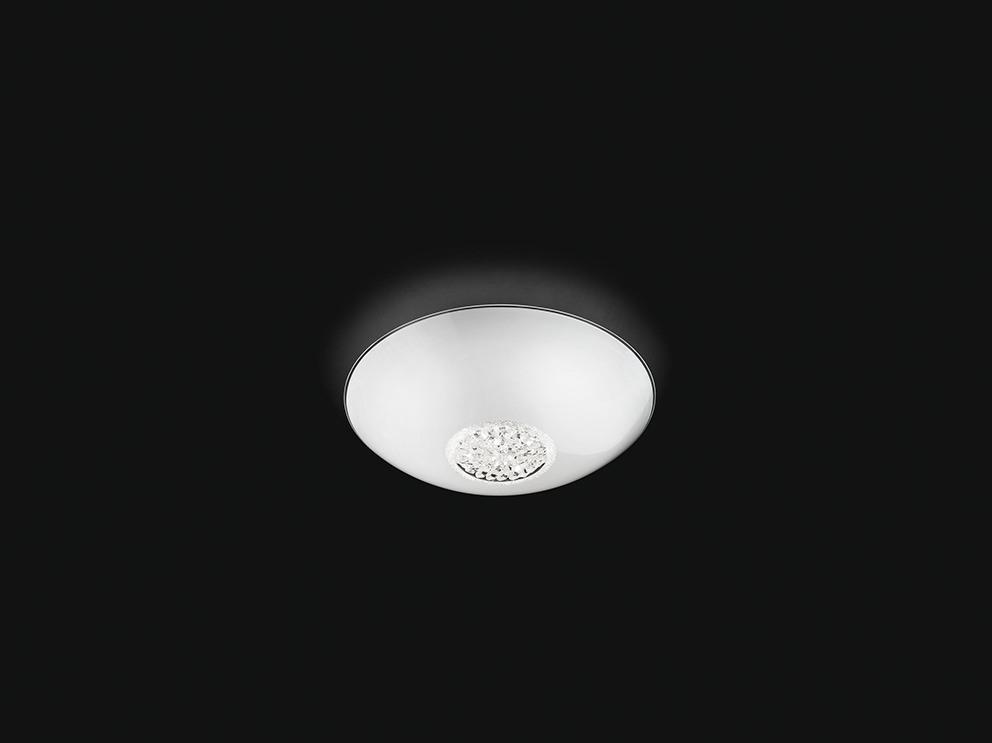 Lampada da soffitto da parete applique in vetro bianco con