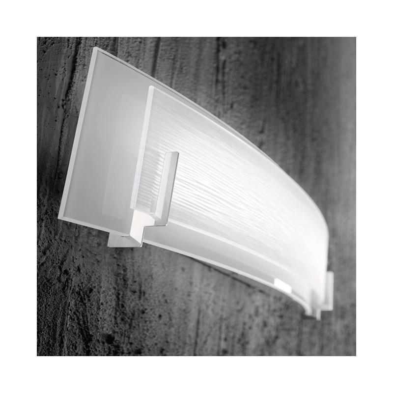 Applique in vetro bianco satinato 32cm 6484BLN illuminazione moderna ...