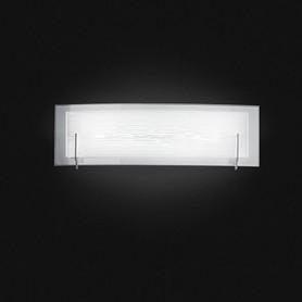 Applique in vetro bianco satinato 60cm 6488bln illuminazione moderna ideale per salone camera da - Illuminazione per camera da letto ...